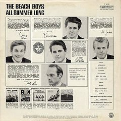the beach boys all summer long contraportada back cover