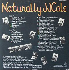jj cale naturally back cover contraportada disco album review