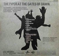 at the gates of dawn pink floyd album back cover contraportada piper