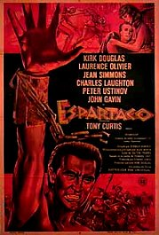 espartaco spartacus cartel poster pelicula movie
