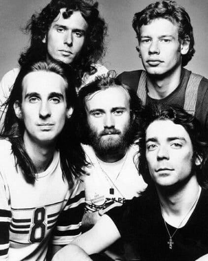 foto del grupo rock genesis con phil collins