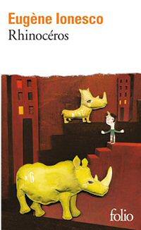 portada del libro rinoceronte de eugene ionesco