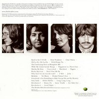 back cover the beatles white album