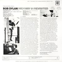 bob dylan highway 61 revisited back cover