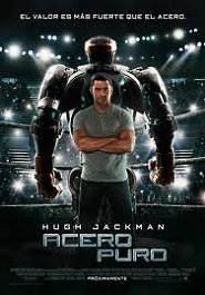 acero puro cartel pelicula movie poster real steel