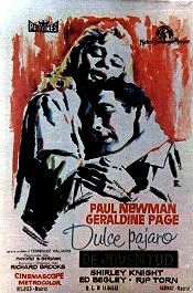 dulce pajaro de juventud movie review poster cartel pelicula sweet bird of youth