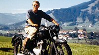 Steve mcqueen la gran evasión the great escape triumph trophy tr6 fotos pictures