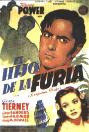 el hijo de la furia son of fury movie poster cartel pelicula