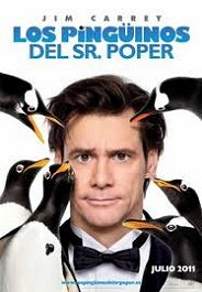 los pinguinos del sr poper cartel poster movie review mr poppers penguins