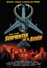 serpientes en el avion cartel poster