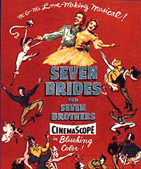 siete novias para siete hermanos movie review cartel pelicula seven brides for seven brothers