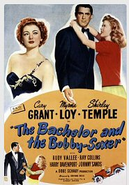el solteron y la menor cartel poster the bachelor and the bobby soxer