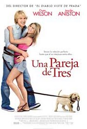 una pareja de tres cartel poster marley and me